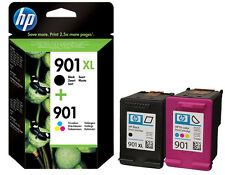 HP 901XL Black + 901 XL Colour Ink Cartridges  For Officejet J4660 J4680 J4680C