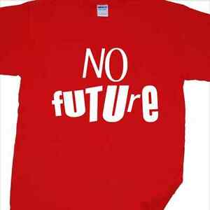 'No Future' T-Shirt inspired by the Sex Pistols ('God Save The Queen', UK punk)