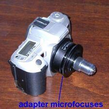 Adattatore MICROFOCUS per ottiche microscopio RMS x canon nikon pentax - ID 3844