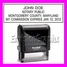 Custom Official NOTARY PUBLIC MARYLAND Self Inking Rubber Stamp T4913 Black