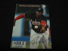 Ryan Howard Reading Phillies magnetic baseball card
