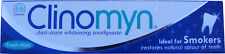 CLINOMYN EVERYDAY SMOKERS FLUORIDE TOOTHPASTE NICOTINE STAIN REMOVAL FRESH MINT