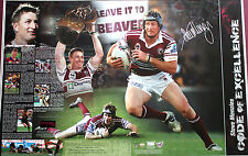 New Steve Menzies Hand Signed Manly Warringah Sea Eagles Lithograph