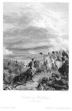 Heilsberg, Lidzbark Warmiński, Polen, Schlacht, Original-Stahlstich von 1838
