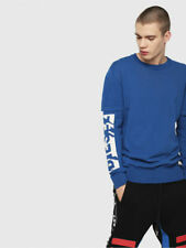 Diesel K Bette Mens Pullover Sweater Blue Size L