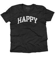 Happy Funny Novelty Sarcastic Humor Gift V-Neck Tees Shirts Tshirt T-Shirt
