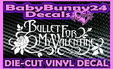 Bullet For My Valentine B Flower band Logo Laptop Truck Car Decal Vinyl Sticker
