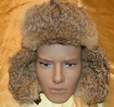FJALL  winter HAT cap rabbit fur flap nordic heater trapper M medium