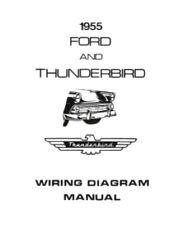 FORD 1955 Customline, Fairlaine & Thunderbird Wiring Diagram Manual