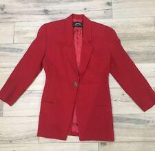 Vintage Linda Allard Ellen Tracy Petite Blazer Red Size 4