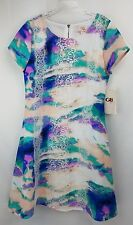 NWT GB GIRLS sz 10 water color lace embellished shift dress