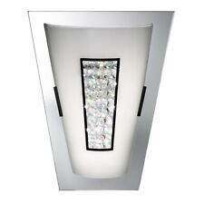 Searchlight 3773 Art Deco Chrome Mirror Wall Light with Crystal