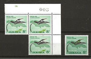 Jamaica 1904 streamertail cnr blk spectacular shift of green from birds body u/m