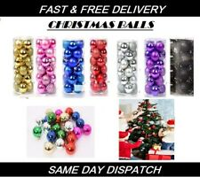 24PCs/Set Christmas Tree Decor Ball Bauble Hanging Party Home Ornament Ball