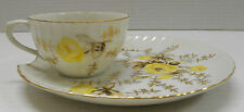 Tea Cup & Snack Plate matched set JAPAN RED mark M - MORIMURA NORITAKE