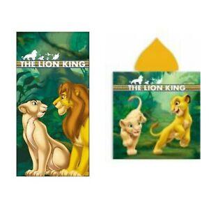 Serviette De Plage Roi Lion Avec poncho de bain Disney