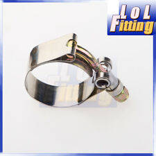 "1.75"" Inch Turbo Pipe Hose Coupler T-bolt Clamp Stainless Steel 47/55mm"