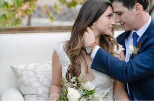 Bridal Rhinestone Teardrop Stud Earrings wtih Crystal from Swarovski Wedding