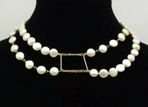 Double strand green fresh water pearls with gold filled clasp