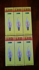 NEW 6 Warm 4W LED Sapphire Filament 2700k Dimmable Candelabra Candle Light Bulbs