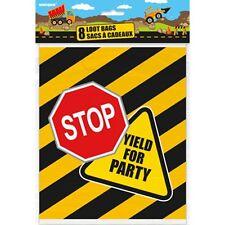 La costruzione di Compleanno Confezione da 8 Festa Bottino Sacchetti, JCB, camion, Escavatore con, strada,