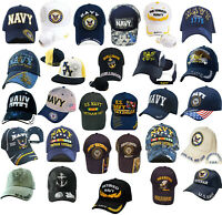 US NAVY Baseball Cap Blue Quality Embroidered Hat Adjustable Strap Naval Seabees