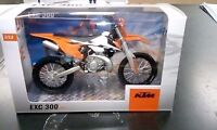 Gift boxed Newray KTM EXC 300 2017 model motocross bike toy scale 1:12 present