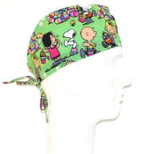 Peanuts Gang Easter on Green theme scrub hat