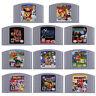 US Vesion 118 games N64 Mario,Smash Bros,Zelda Video Game Cartridge Console