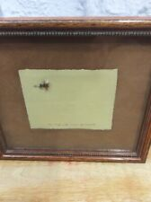 Fly Fishing Royal Wulff Miniature Pressed Paper Signed Jan Ness  Numbered