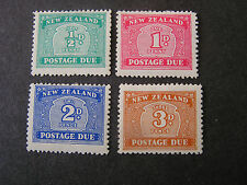 NEW ZEALAND, SCOTT # J22-J25(4), COMPLETE SET 1939 POSTAGE DUE ISSUE. MH