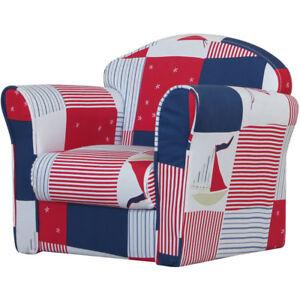 Kids Mini Armchairs Childrens Seat Chair Blue Grey Pink Stars Boy Girl