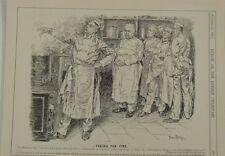 """7x10"""" punch cartoon 1901 FACING THE FIRE rosebery / mentmore"""