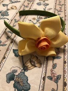 Girls Gymboree Spring Celebration Yellow Daisy Headband All Sz 2 3 4 5 6 NWOT