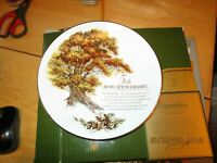 "AVON Rep. 5th Anniversary Exclusive: THE GREAT OAK~ 8"" Porcelain Plate + Box"
