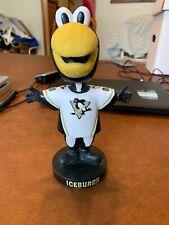 Pittsburgh Penguins Iceburgh Mascot White Jersey Bobblehead Bobble Penguin