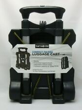 Samsonite Compact Folding Rolling Black Luggage Cart Dolly Rugged Holds 70 lbs