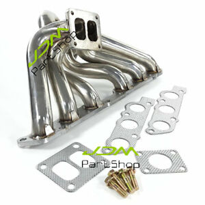 for Toyota Supra Lexus IS300 GS300 2JZ-GE 2JZGE Turbo Exhaust Header Manifold SS