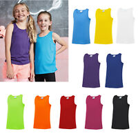 AWDis Kids Cool Vest - Boys girls school sports top for P.E/football/summer 3-13