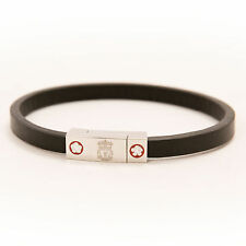 Liverpool FC  LFC Black Leather Thin Bracelet Official