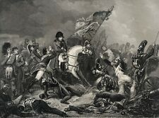 Bataille de Waterloo 1815 Napoléon Bonaparte Empire par Steuben 1850