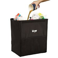 Lebogner Luxery Car Garbage Can, 100% Leakproof X-Large Auto Trash Container,