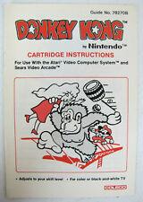 Donkey Kong Nintendo Coleco Game Instruction Manual
