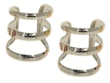 Silver Clip on Ear Cuff Wrap Earrings Women Girls No Piercing Punk Rock Jewelry