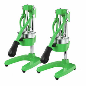 SOGA 2X Commercial Hand Press Juice Extractor Manual Juicer Squeezer Green