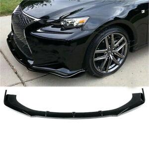 Front Bumper Lip Splitter For Lexus IS250 IS350 IS300 F-Sport 00-20 Gloss Black