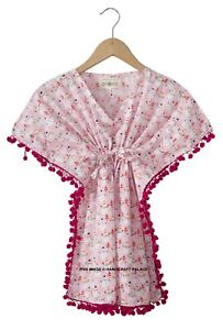 Rose Bébé Enfants Filles Robe Princesse Bonhomme Imprimé Caftan Mode Fête Tenue