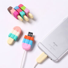 ice cream Soft Silicone Prorect Case For all iphone ipad lightning cable cables