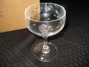 Set of 4 Princess House Heritage Bordeaux Champagne Sherbet Glasses Crystal
