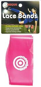 Unique Sports Lace Bands Cleat Lace Covers Neon Pink  BRAND NEW SEALED FREE SHIP